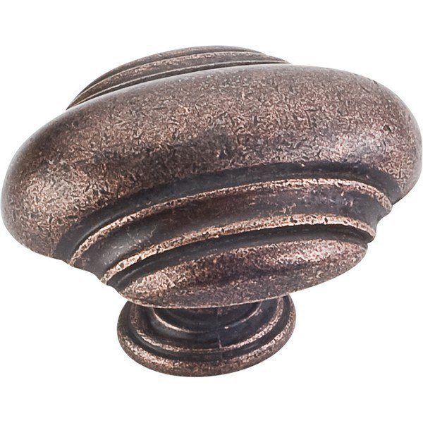HARDWARE RESOURCES 613L JEFFREY ALEXANDER AMSDEN COLLECTION 1-5/8 INCH OVERALL LENGTH CABINET KNOB