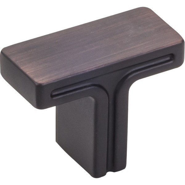 HARDWARE RESOURCES 867 JEFFREY ALEXANDER ANWICK COLLECTION 1-3/8 INCH OVERALL LENGTH RECTANGLE CABINET KNOB