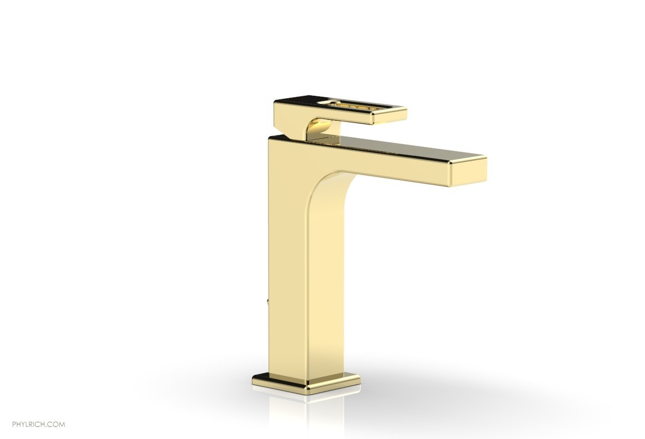 Phylrich 290 07 003 Mix Single Hole Bathroom Faucet With Ring Handle Polished Brass