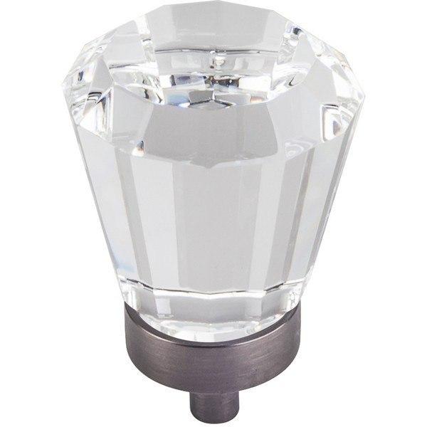 HARDWARE RESOURCES G150L JEFFREY ALEXANDER HARLOW COLLECTION 1-1/4 INCH DIAMETER GLASS TAPERED CABINET KNOB