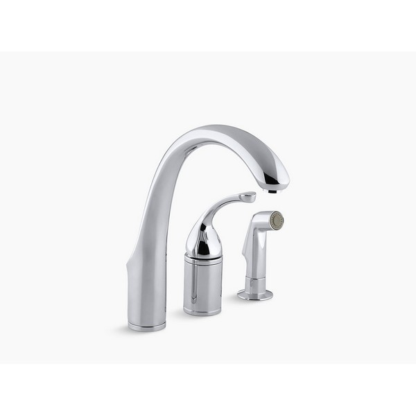 Kohler 10430 Cp Forte 3 Hole Remote Valve Kitchen Sink Faucet With 9 Inch Spout And Sidespray Kohler 10430 Bn Forte