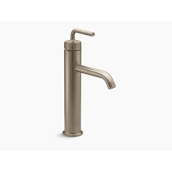 Single Control Lavatory Faucet KOHLER K-10217-4-BN Forte Tall Vibrant Brushed Nickel