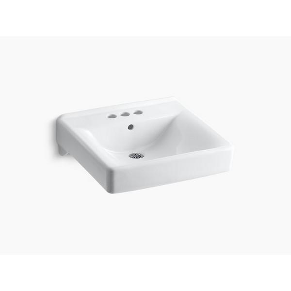 Kohler 2054 0 Soho 18 Inch Wall Mounted Bathroom Sink With 3 Holes Drilled And Overflow Kohler 2054 7 Soho 18 Inch