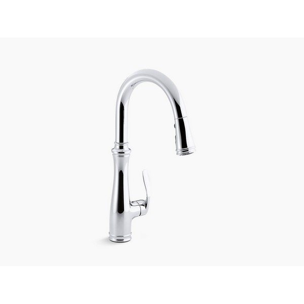 Kohler 560 Cp Bellera Pull Down Kitchen Faucet With Docknetik Magnetic Docking System And 2 Function Sprayhead