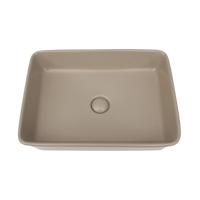 Barclay 4 1097mta Harmony 19 3 4 Inch Single Basin Above Counter Bathroom Sink Matte Tan