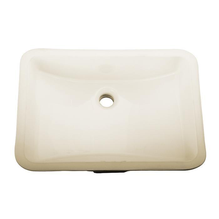 Barclay 4 715bq Cleo 20 1 4 Inch Single Basin Undermount Bathroom Sink Bisque