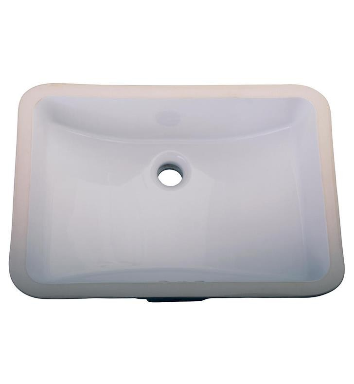 Barclay 4 715wh Dg Cleo 20 1 4 Inch Single Basin Undermount Bathroom Sink White Double Glazed