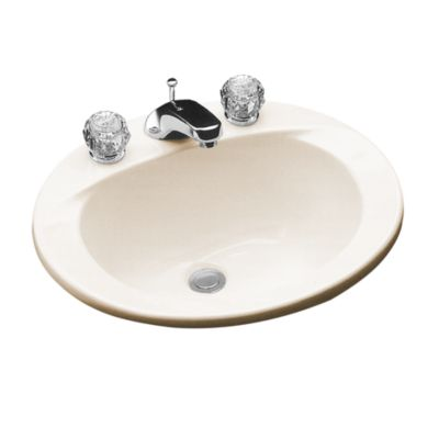 Toto Lt501 01 Reliance Commercial 20 X 17 Inch Drop In Bathroom Sink With Single Faucet Hole Drilled And Overflow