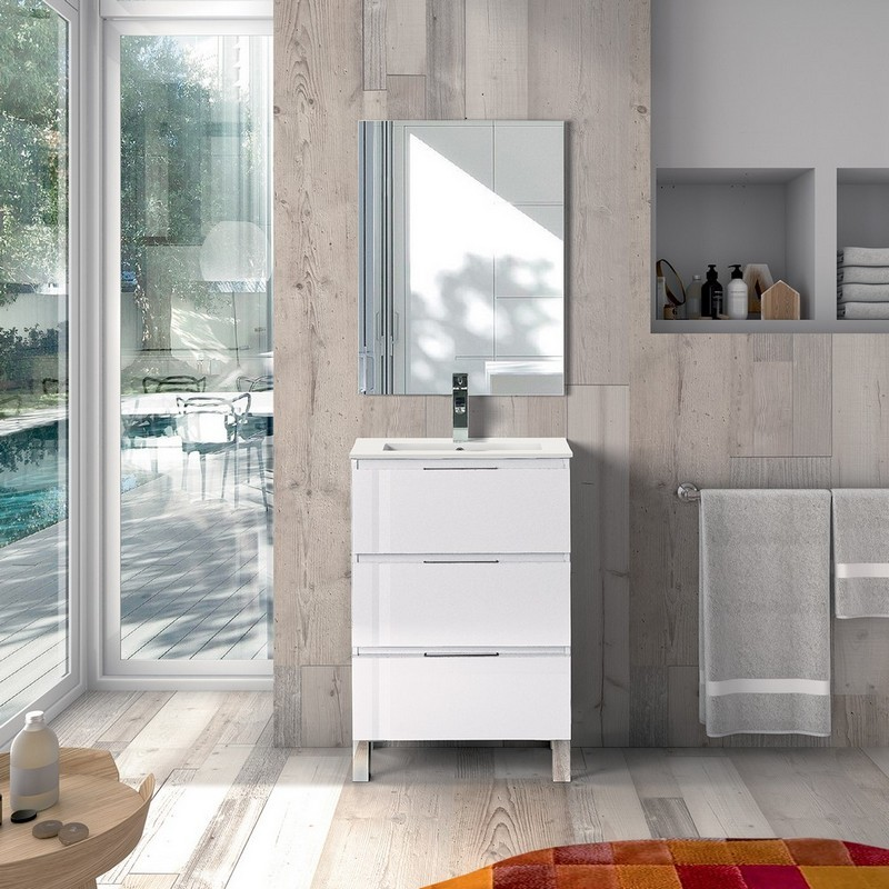 Eviva Evvn570 20x14wh Malmo 20 Inch Free Standing Bathroom Vanity White