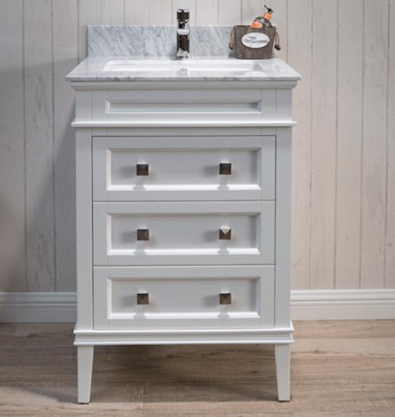 Blossom V8015 24 01 Bordeaux 24 Inch Vanity Cabinet Matte White