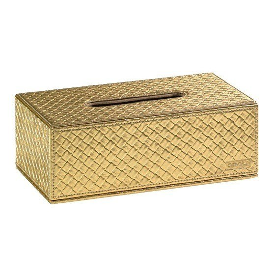 GEDY 6708-87 MARRAKECH FAUX LEATHER TISSUE BOX COVER
