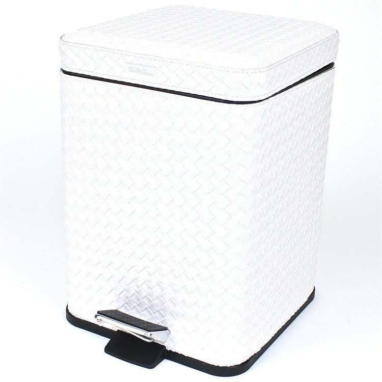 GEDY 6729-73 MARRAKECH SQUARE FAUX LEATHER WASTE BIN WITH PEDAL