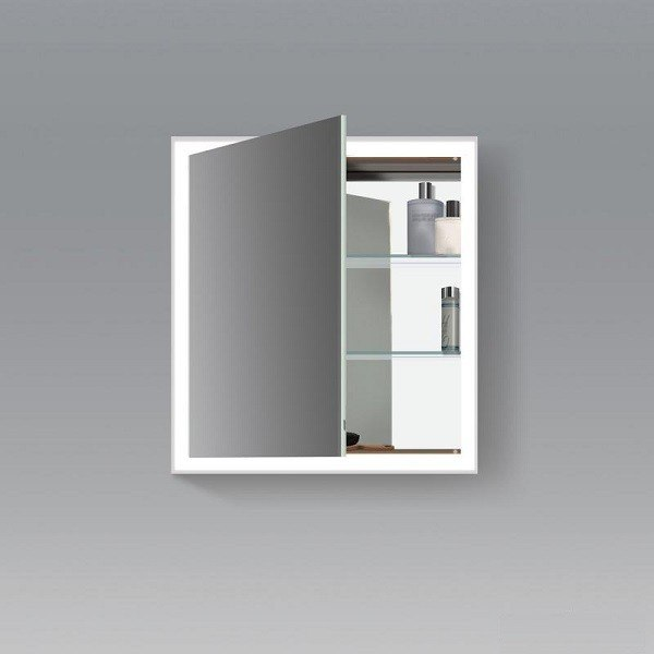 Duravit LC7550 L-Cube 25-5/8 x 27-1/2 & Duravit LC7550 L-Cube 25-5/8 x 27-1/2 Inch Mirror Cabinet with ...