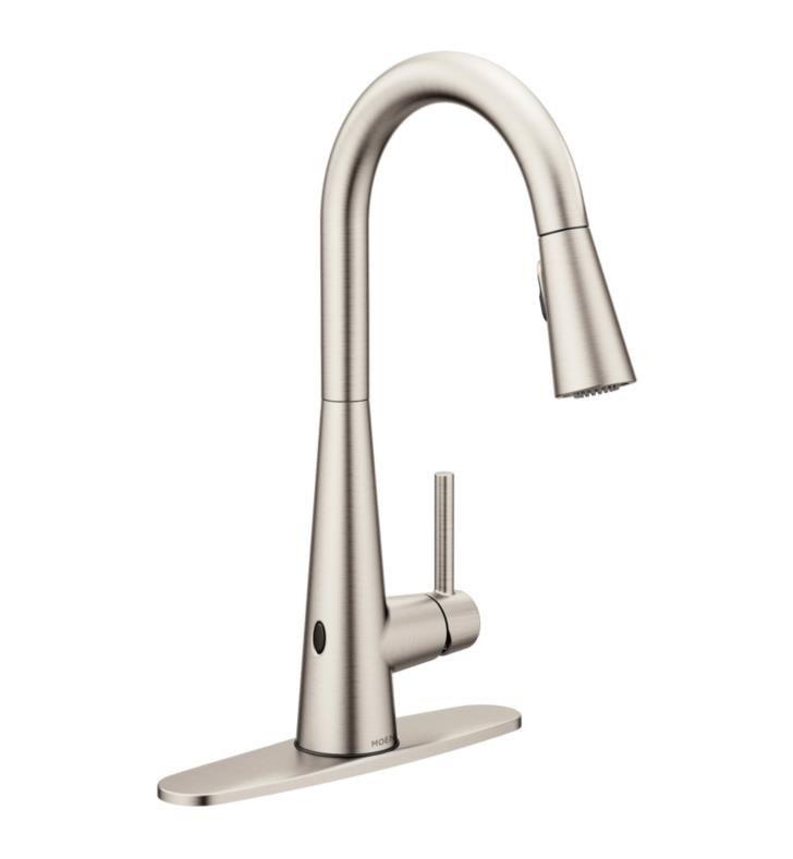 Moen 7864EW Sleek with MotionSense Wave One-Handle Pulldown Kitchen Faucet