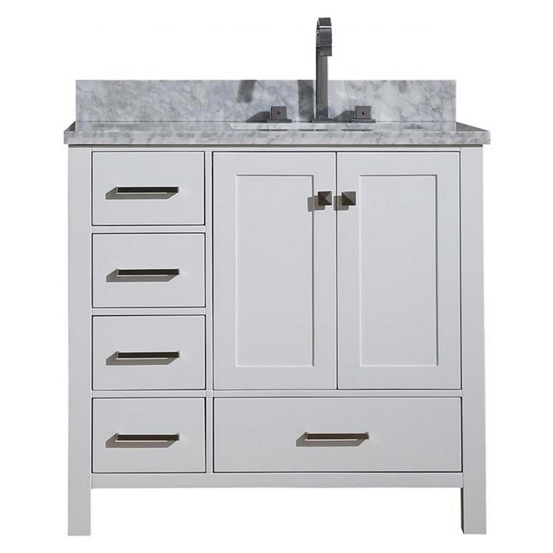 Ariel A037srcwrvowht Cambridge 37 Inch Right Offset Single Sink Vanity Ariel A037srcwrvoesp Cambridge 37 Inch Right