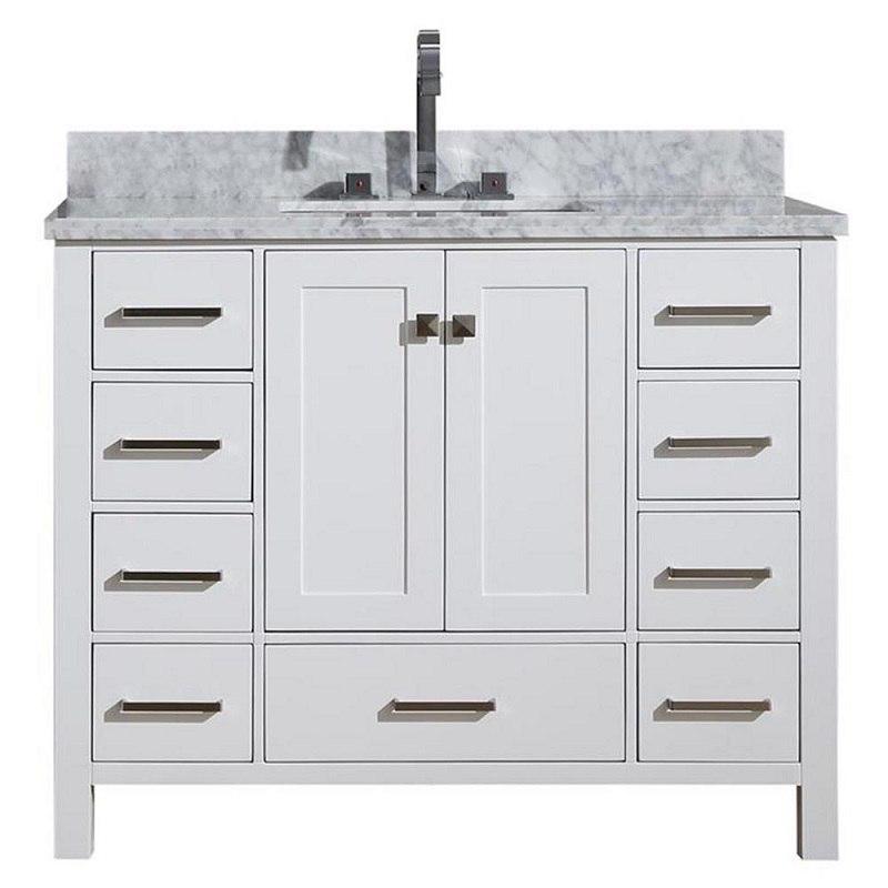 Ariel A043scwrvowht Cambridge 43 Inch Single Sink Vanity Ariel A043scwrvoesp Cambridge 43 Inch Single Sink Vanity