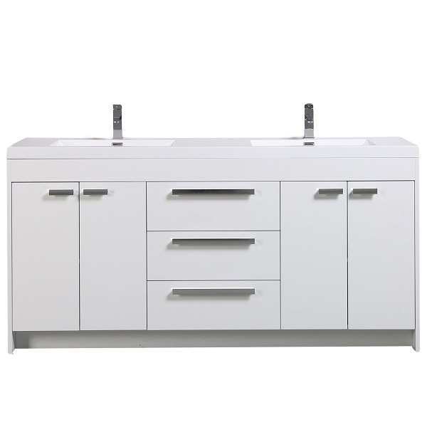 Eviva Evvn1800 8 72wh Lugano 72 Inch Modern Bathroom Vanity With White Integrated Acrylic Double Sink Eviva