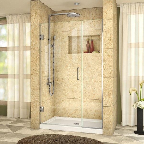 Dreamline Shdr 244457210 01 Unidoor Plus 44 1 2 45 W X 72 H Frameless Hinged Shower Door Clear Glass Dreamline