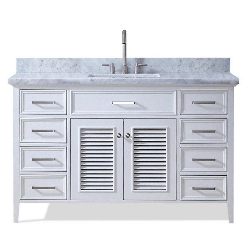 Ariel D055s Vo Wht Kensington 55 Inch Single Sink Vanity Ariel D055s Vo Gry Kensington 55 Inch Single Sink Vanity
