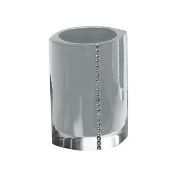 GEDY 7498-73 DIAMONDS TOOTHBRUSH HOLDER WITH CRYSTALS