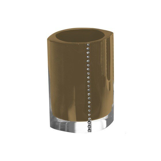 GEDY 7498-87 DIAMONDS TOOTHBRUSH HOLDER WITH CRYSTALS
