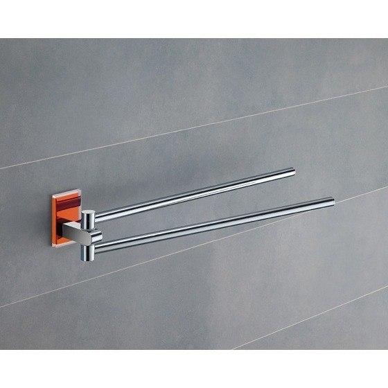GEDY 7823-67 MAINE 14 INCH DOUBLE ARM SWIVEL TOWEL BAR