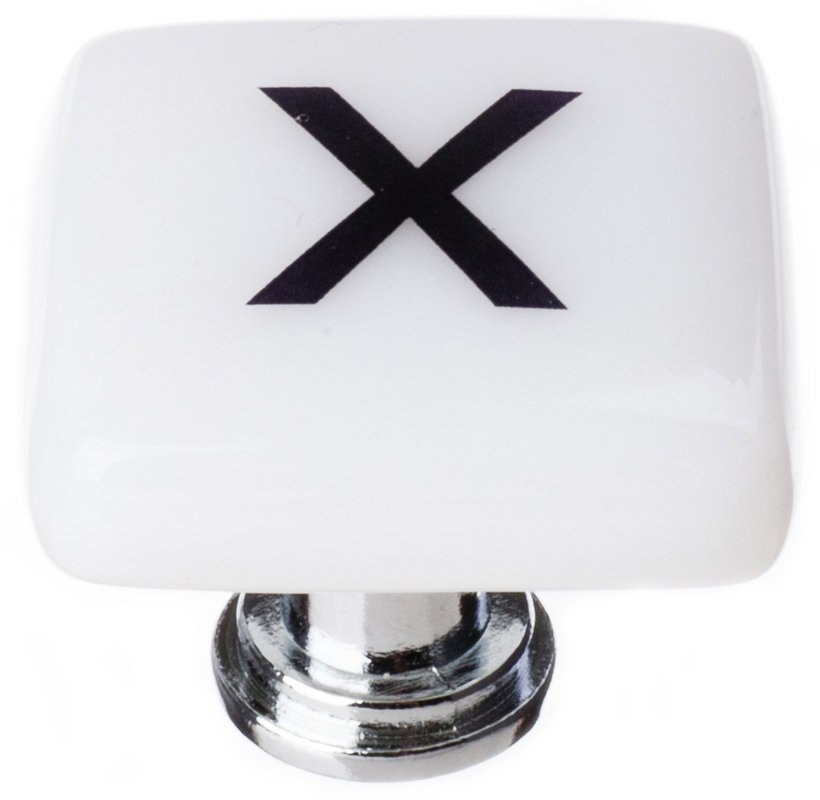 Sietto K-1123 New Vintage Letter X 1-1/4 Inch Square Cabinet Knob ...