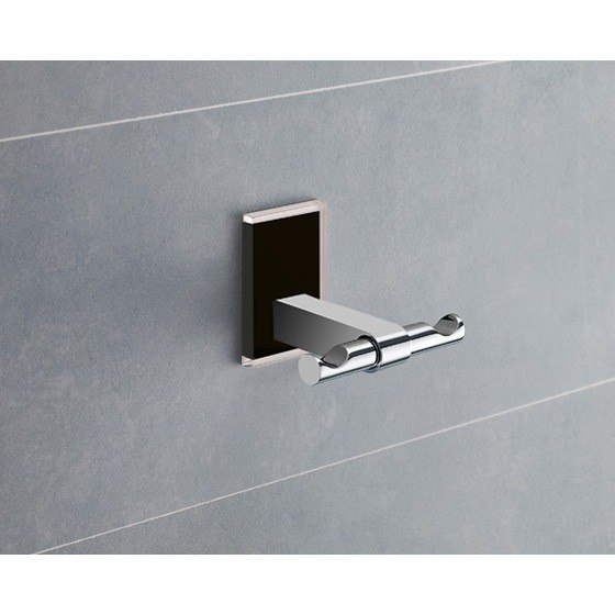 GEDY 7826-14 MAINE MOUNTING POLISHED CHROME DOUBLE HOOK