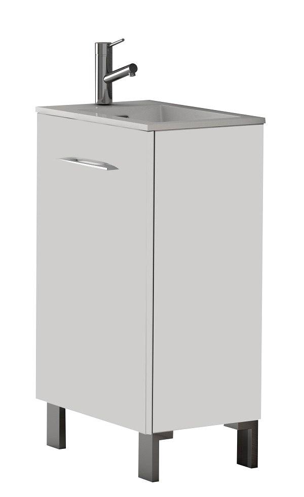 Eviva Evvn514 20wh Kandy 20 Inch Modern Bathroom Vanity With White Integrated Acrylic Sink Eviva Evvn514 20wg Kandy