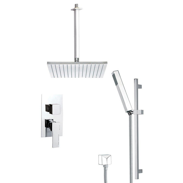 REMER SFR7507-14 AUTUNNO SLEEK SHOWER FAUCET SET WITH SLIDING RAIL
