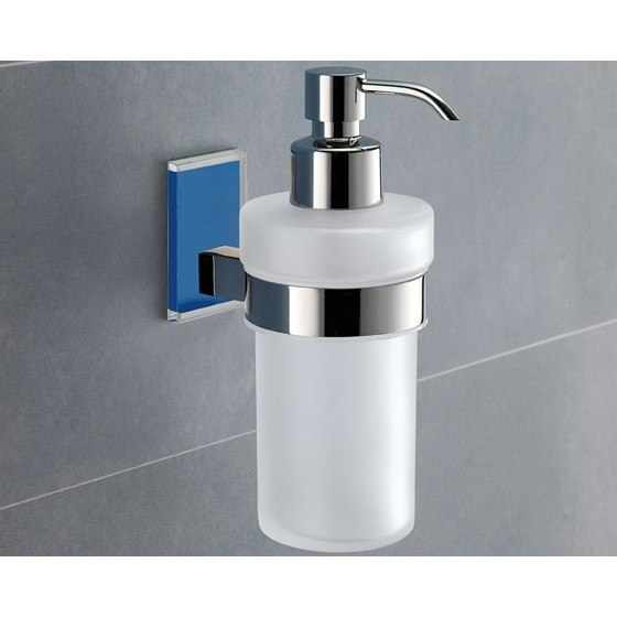 GEDY 7881-05 MAINE WALL MOUNTED FROSTED GLASS SOAP DISPENSER WITH MOUNTING