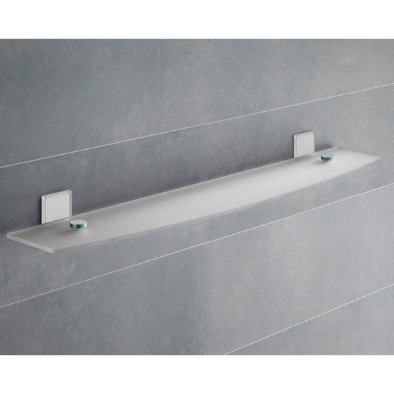GEDY 7819-60-02 MAINE 23 INCH MOUNTING FROSTED GLASS BATHROOM SHELF