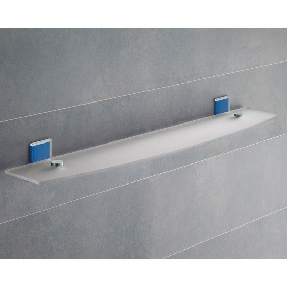 GEDY 7819-60-05 MAINE 23 INCH MOUNTING FROSTED GLASS BATHROOM SHELF
