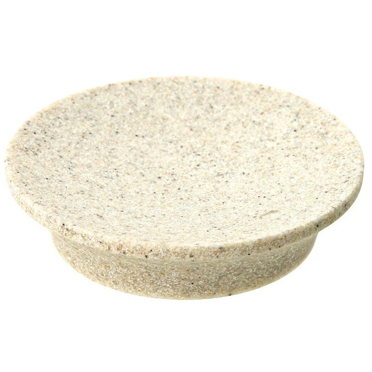 GEDY AU11-03 AUCUBA ROUND SOAP DISH MADE FROM STONE