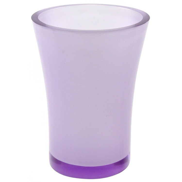 GEDY AU98-63 AUCUBA ROUND TOOTHBRUSH HOLDER MADE FROM THERMOPLASTIC RESINS