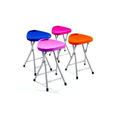 GEDY CO75-79 SOLISIA CHROME BATHROOM STOOL WITH ASSORTED COLOR SEAT