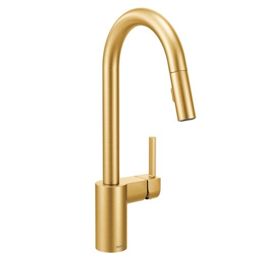 Moen 7565bg Align One Handle High Arc Pulldown Kitchen Faucet Brushed Gold