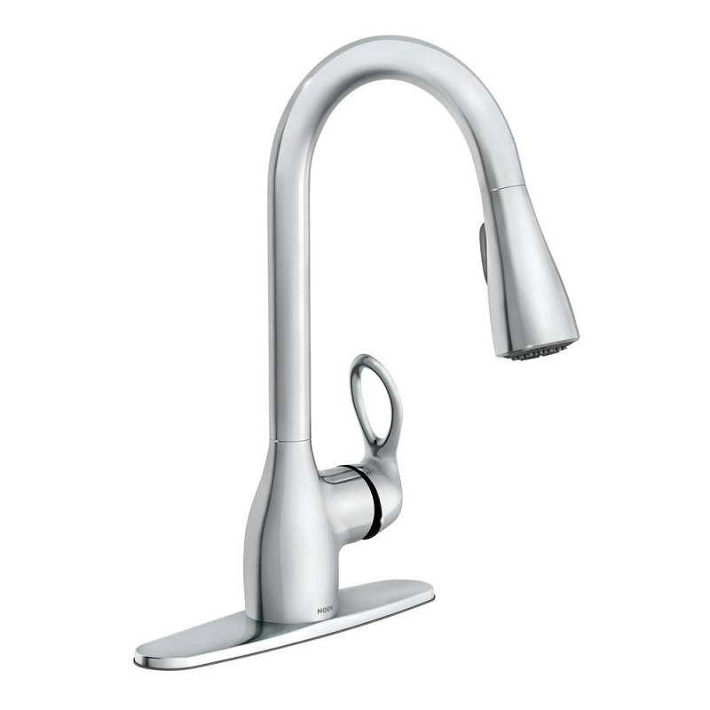 Moen Ca87011srs Kleo One Handle High Arc Pulldown Kitchen Faucet In Spot Resist Stainless Ca87011 Ca87011bl Ca87011srs