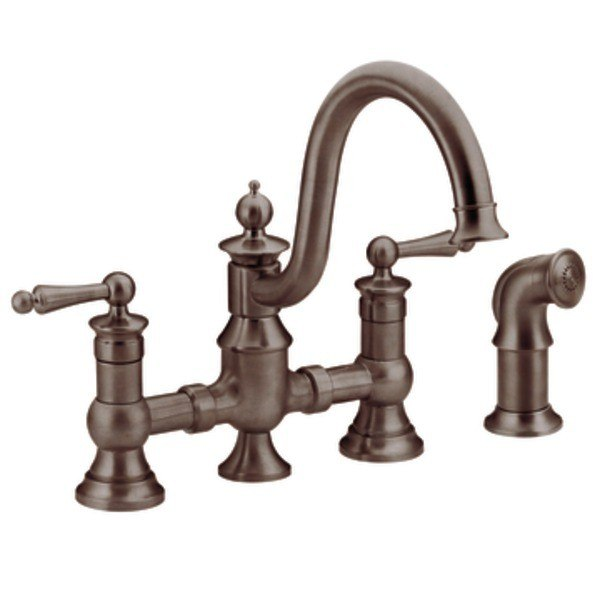 Moen S713orb Waterhill Two Handle High Arc Kitchen Faucet Oil Rubbed Bronze