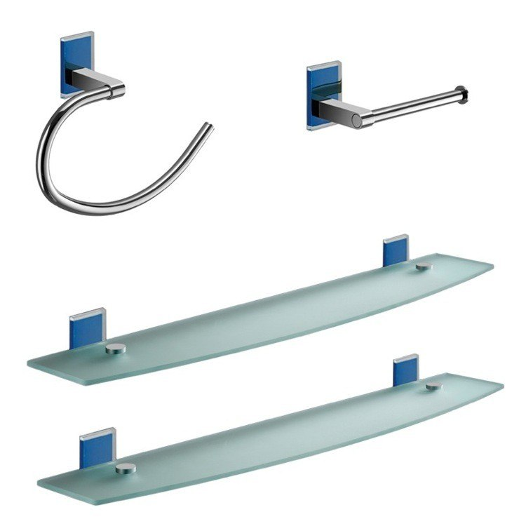 GEDY MNE1419-05 MAINE AND CHROME 4 PIECE ACCESSORY HARDWARE SET