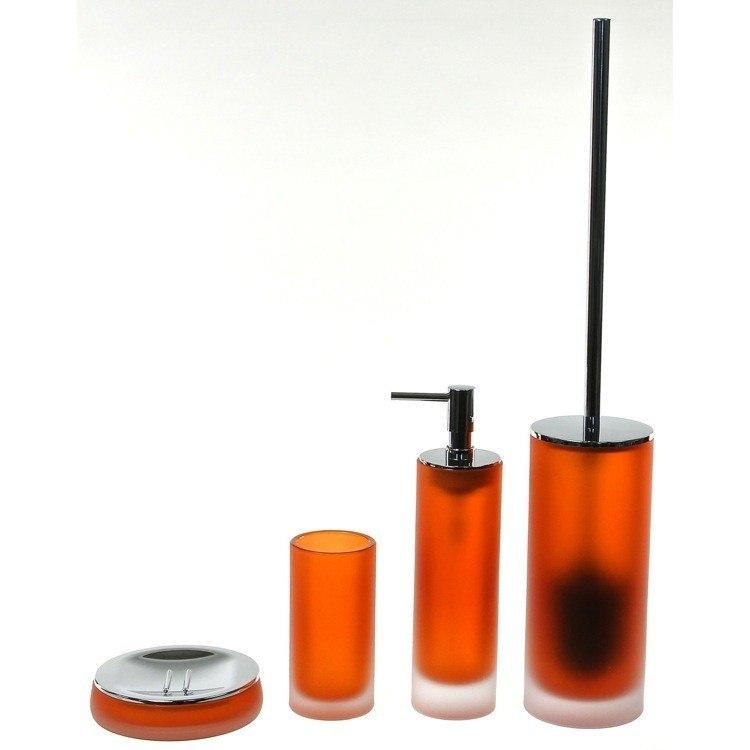 GEDY TI180-67 TIGLIO 4 PIECE SATIN GLASS BATHROOM ACCESSORY SET
