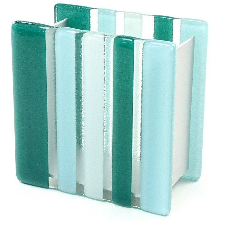 GEDY VI10-07 VIOLA GLASS/ALUMINUM TOOTHBRUSH HOLDER