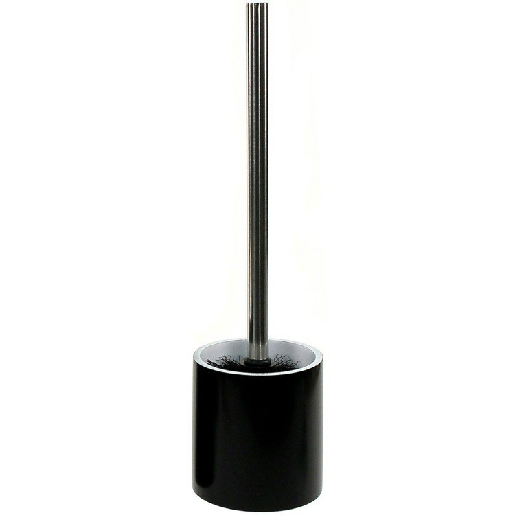 GEDY YU33-14 YUCCA STEEL FREE STANDING ROUND TOILET BRUSH HOLDER IN RESIN