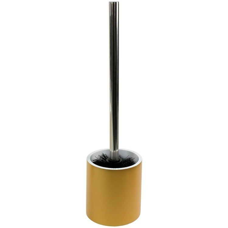 GEDY YU33-87 YUCCA STEEL FREE STANDING ROUND TOILET BRUSH HOLDER IN RESIN