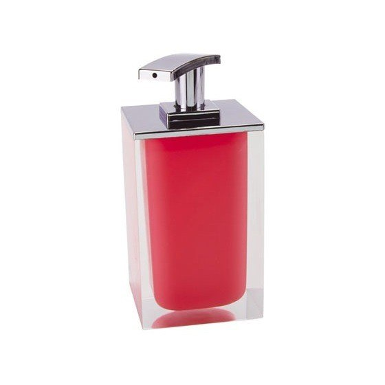 GEDY RA82-06 RAINBOW SQUARE SOAP DISPENSER MADE FROM RESIN