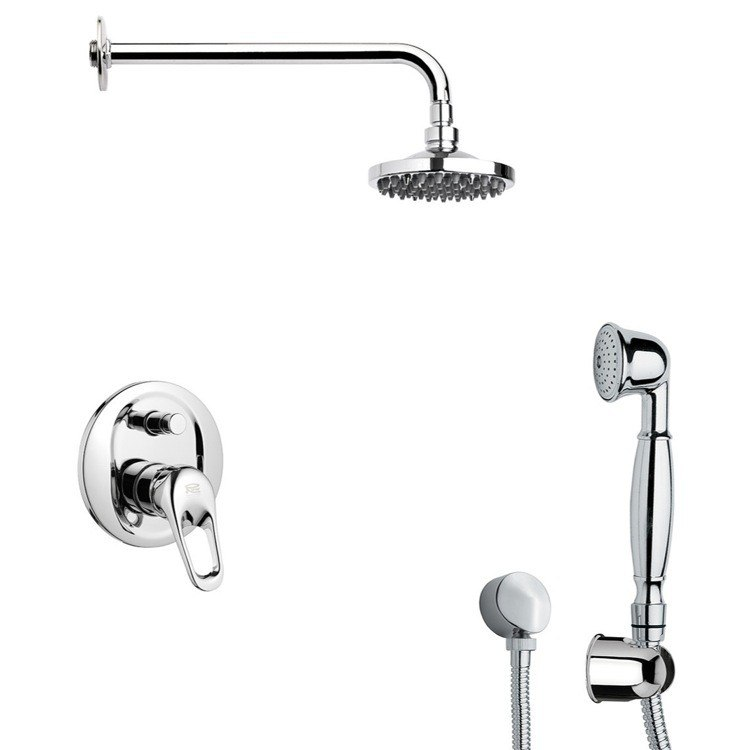 REMER SFH6533-14 PRIMAVERA ROUND THEMED SHOWER FAUCET SET WITH HAND SHOWER