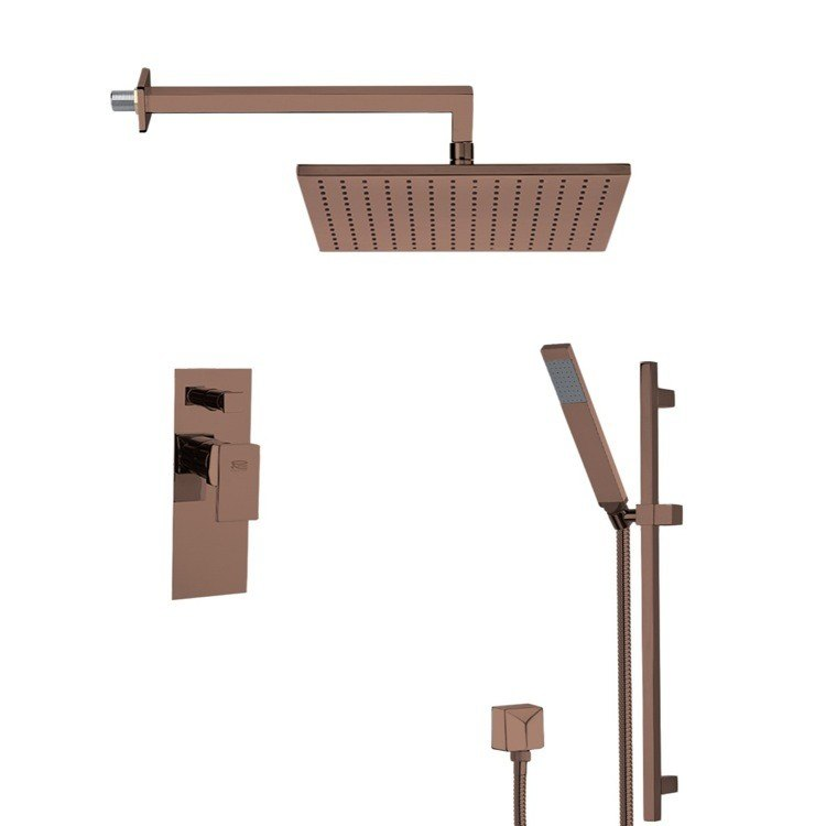 REMER SFR7510-OIL AUTUNNO SQUARE SHOWER FAUCET WITH SLIDING RAIL