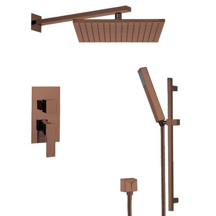 REMER SFR7516-OIL AUTUNNO MODERN SHOWER SYSTEM WITH SLIDING RAIL