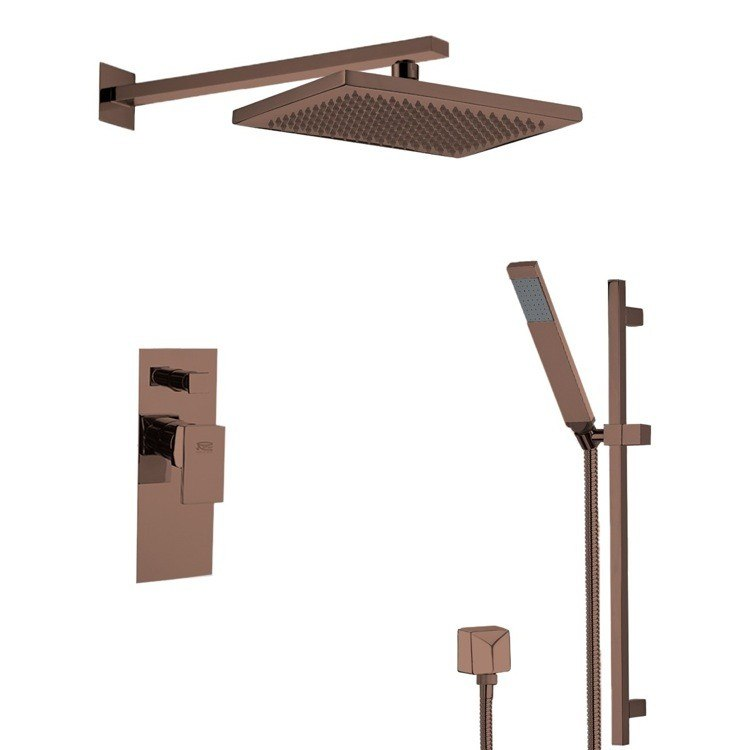 REMER SFR7543-OIL AUTUNNO SQUARE THEMED SHOWER FAUCET