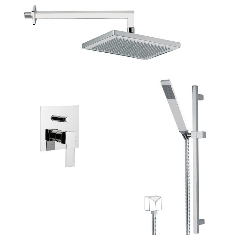 REMER SFR7545-14 AUTUNNO SLEEK SHOWER FAUCET SET WITH SLIDING RAIL